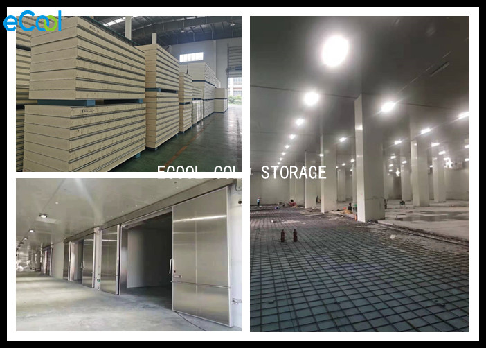 Fruit Vegetable Cold Storage Panels Double Side Stainless Steel Material Surface